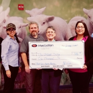 TMMTX team presenting a donation to The Children's Shelter in Texas