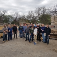 TMMTX team cleaned up the lumber yard at Habitat for Humanity