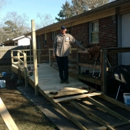 Derek, HVAC AL, building a ramp for disable children in Alabama