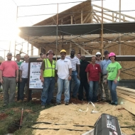 Jeff Betzoldt working with our customer employees at Mercedes to build a home for Habitat for Humanity