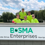 HVAC IN team volunteering at BOSNA, an organization that helps to employ people who are blind
