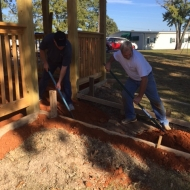 The team in Mississippi helped build a gazebo for the children at Pine Valley Children's Home to use as their bus stop to keep them out of the weather.