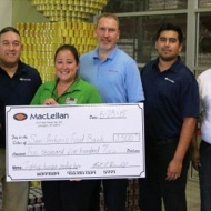 MacLellan employees in Texas serve on a regular basis at the San Antonio Food Bank.